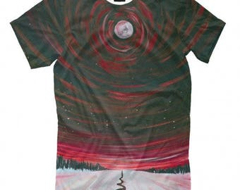 The Way To Moon Full Print T-Shirt