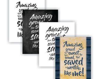 "8x10"" Print ""Amazing Grace"" - 4 styles"