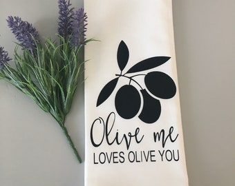 Flour Sack Towel | Love Quote | Farmhouse Tea Towel | Kitchen Towel | Tea Towel