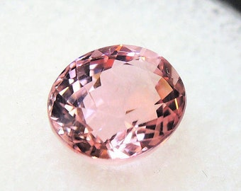 Pale pink tourmaline, pink tourmaline baby, tourmaline cut oval, African, 1, 69ct 6.4 x 7.6 mm