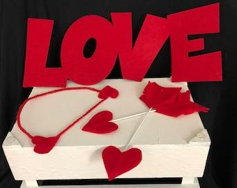 Valentine's Day Photo Prop Set