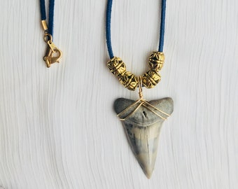 Fossilized Mako Shark Tooth Necklace