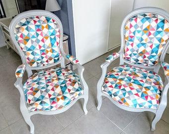 Refurbished voltaire armchair