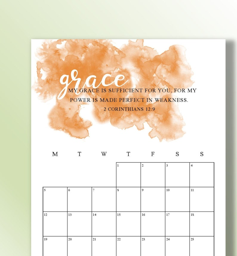 BONUS 2020 AND 2021 Bible Verse Calendar Printable ...