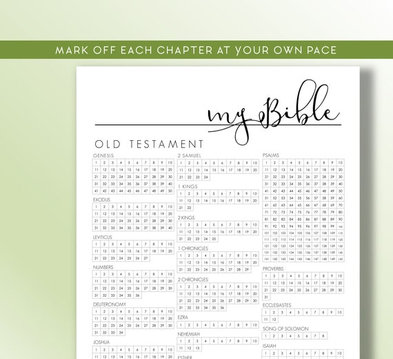1pc - English Daily Bible Reading Plan for a year