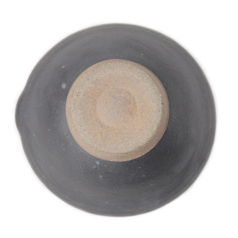 7.5 in Mortar bowl Japanese pottery Suribachi Mash Bowl Black wabi sabi eco friendly Yamatada