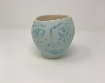 White and Blue Face Planter