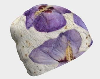 d4edf85bac417 Beanie - Purple Butterfly Hat for women