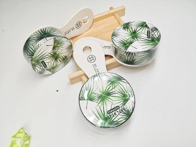 Banana Leaf Fan Palm Leaf Tropical leave Washi Tape 15mm wide