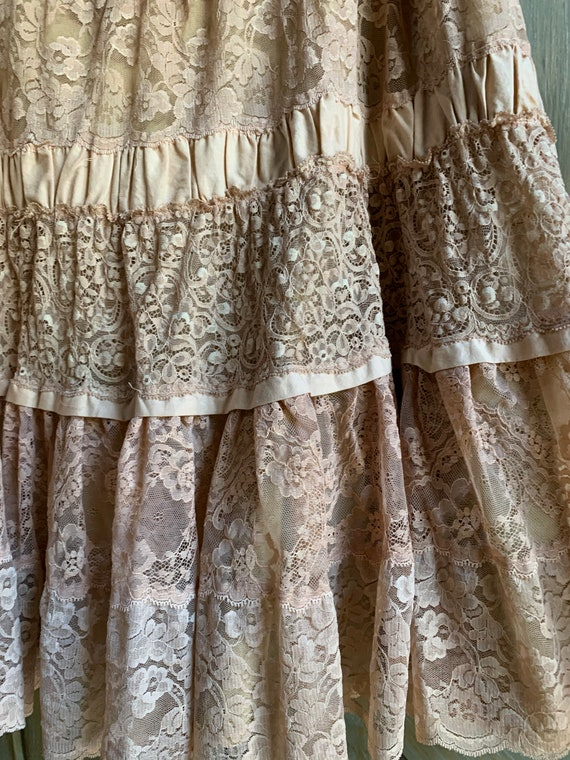 Vintage Lace Tiered skirt - image 2