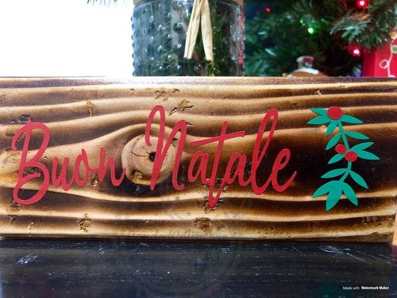 Buon Natale Sign Italian Christmas Sign Buon Natale Wood Sign Christmas Decor Christmas Decorations