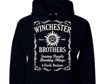 FUNNIER IN ENOCHIAN HOODY HOODIE SUPERNATURAL WINCHESTER DEAN SAM BROTHERS