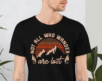 433d5c24e Not all who Wander are Lost T-Shirt | Adventurer Wanderer Shirt |  Wanderlust Tees | Travel Inspirational Hoodie | Camping Hiking Road Trip