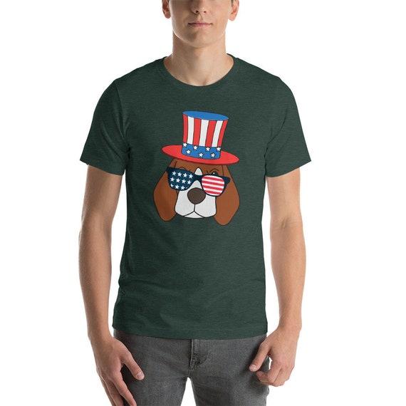 4b7d1938a American Pawtriot Beagle T-Shirt USA Beagle Lover Gift 4th