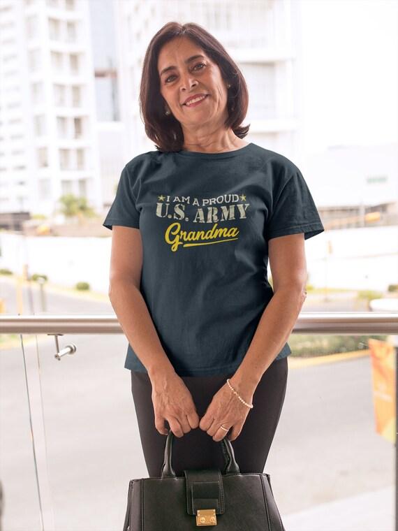 945b43722 Proud U.S. Army Grandma Shirt Military USA Grandmother