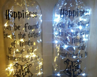 823deef068 Harry Potter Light Up Bottle Happines Can Be Found Even In The Darkest Of  Times Turn On The Light