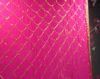 Embroidered designer dupatta in pink
