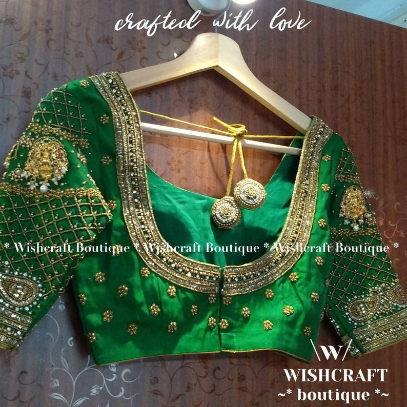 Maggam work blouse Free express shipping USA Canada For brides /& sister Bridal Blouse with beautiful handwork India UK Saree Blouse