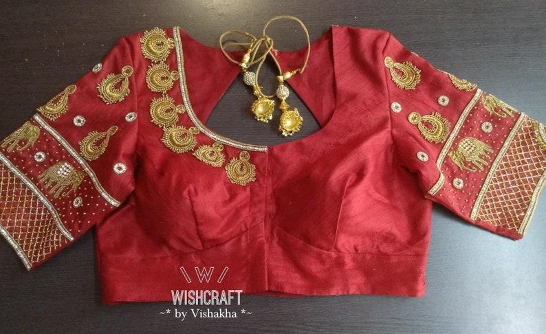 65a468cfa7bc60 Maggam work saree blouse for wedding and bridal wear bridal | Etsy