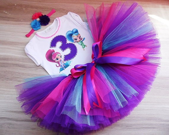 Shine character Shimmer and Shine Birthday Shimmer Tutu Outfit Party Dress Set