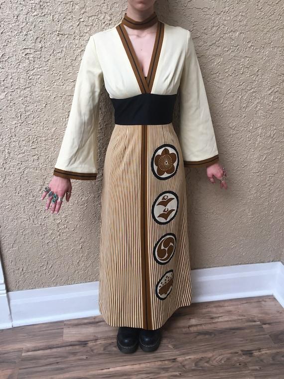 Alfred Shaheen Asian inspired dress - size Medium