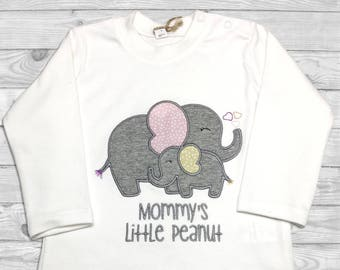 Little Peanut Baby  Shower, Baby Elephant Onesie, Little Peanut Shirt, Mommys Little Peanut,  Baby Shower Gift, Baby Custom Outfit