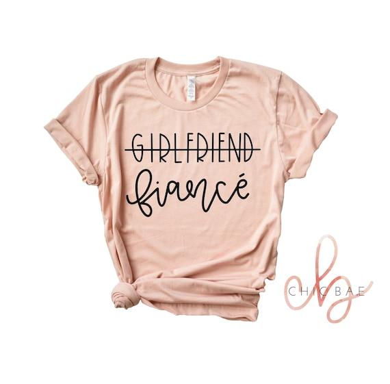 Girlfriend Fiance Shirt Future Mrs I Said Yes Engagement  039ac6b5c33d