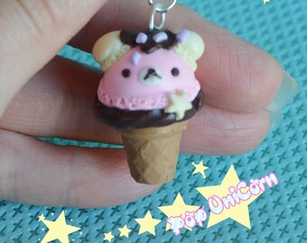 Earring Bear ice cream