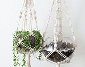 MACRAME PLANT HANGER, indoor hanging planter, plant holder, modern macrame home decor, houseplant, terrarium, indoor plant, plant lover gift
