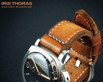 cf4d1a5e7 DH4 - VINTAGE SUNBURST - Handcrafted Soft Leather Watch Strap