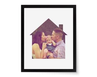 Housewarming House Home Gift Photo Frame Mat Picture Frame Mat Die Cut 8x10 House Photo Mat Closing Photo Gift