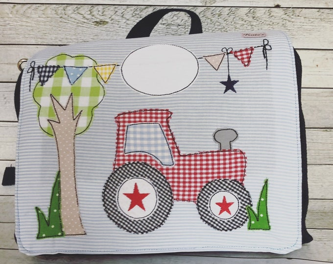 "Nursery backpack ""tractor"""