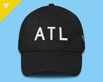 6bb116d7d62 Atlanta Hat    ATL Airport Code    Embroidered Atlanta Dad Hat