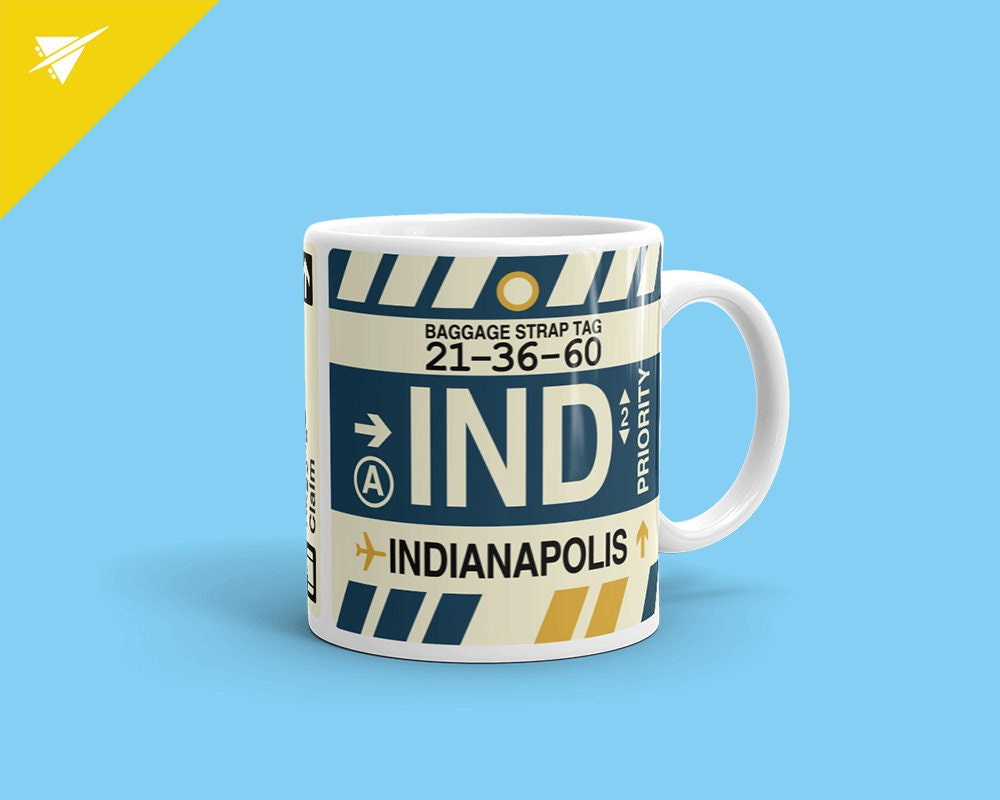 INDIANAPOLIS Coffee Mug // IND Airport Code // Indiana | Etsy