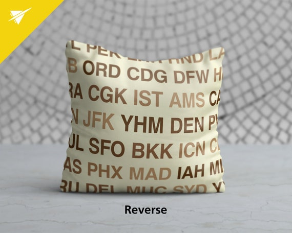 LHR Throw Pillow London Airport Tag LHR