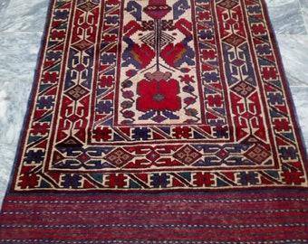 Beautiful Afghan Bajarsta Rug, Afghan Rug, Handmade Afghan Rug, 183 x 114 CM