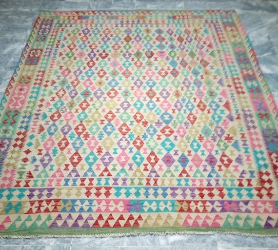 8 X 10 Kilim Rug Large Afghan Chobi Kilim Rug Kilim
