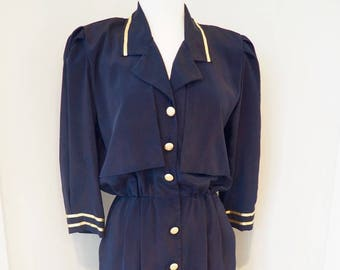 1980's Vintage Dress/Military Style