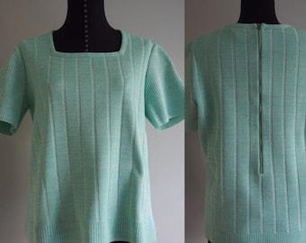 Vintage Nardis of Dallas colorful design sleeveless polyester top.