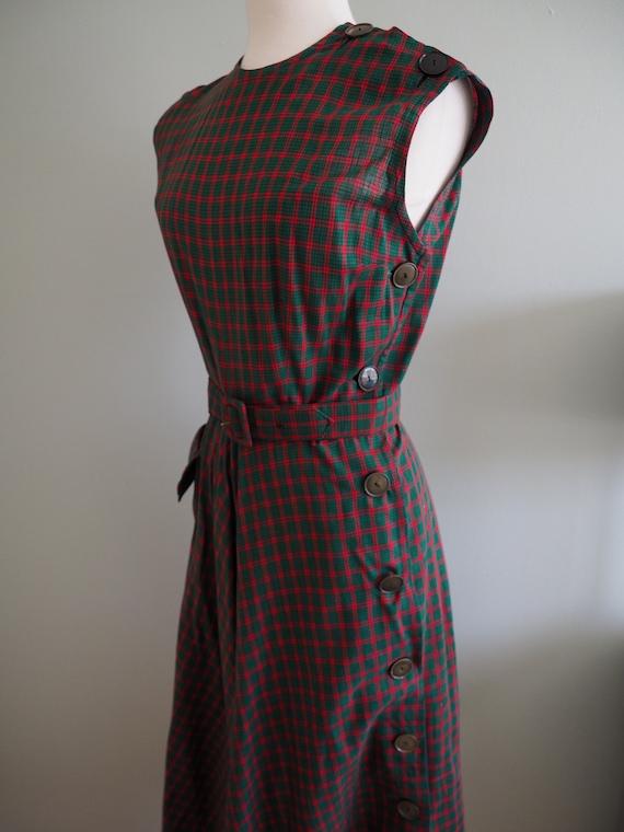 1950s Jerry Gilden Dress, Vintage 50s Sleeveless S