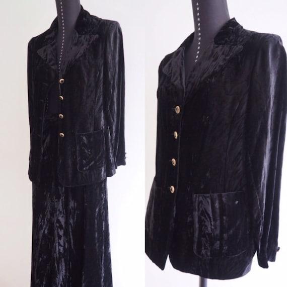 70s Mod Clothes, Crushed Velvet Suit, Victorian St