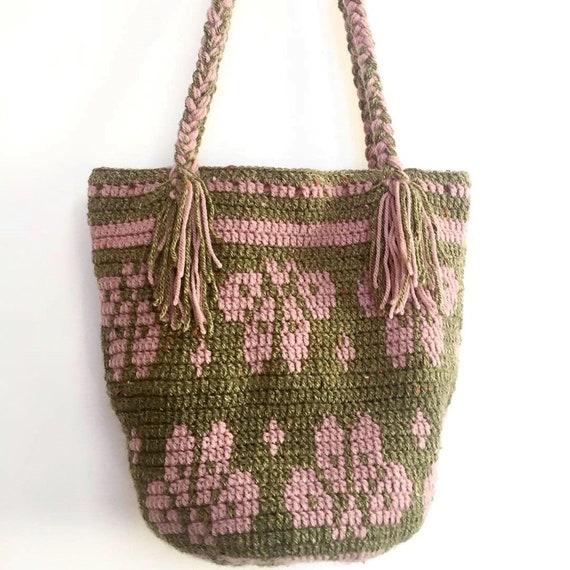 crochet bagwool baghandmade bagmochillawayuu bagboho bagColombian bagshoulder bagpatterned bagbohemianhandmade