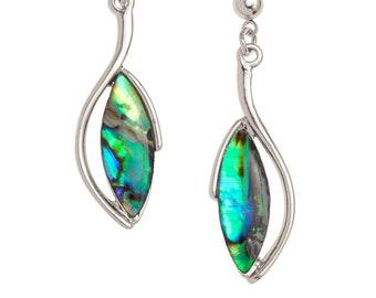 Abalone Shell Earrings Abalone Earrings Drop Earrings Birthday Gift for Her Hypoallergenic Jewelry Paua Shell Jewellery Paua Shell Earrings