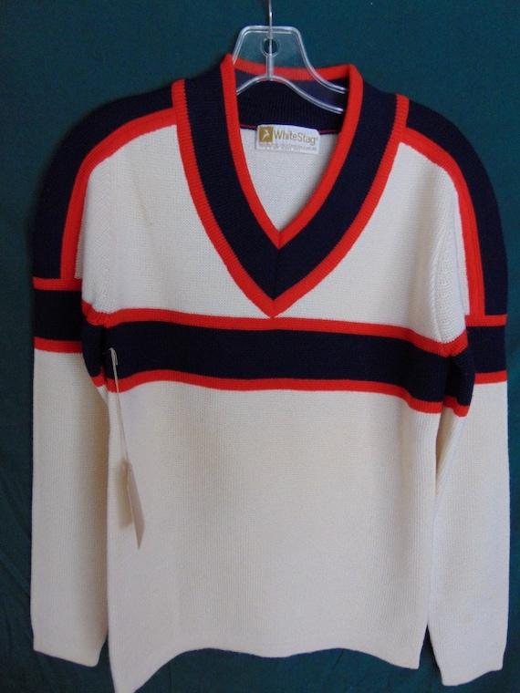 sSMw40 1970's White Stag Wool Ski Vintage Sweater