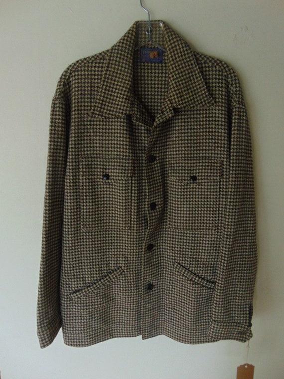 lsw106 1940-50's 4 pocket Pendleton Brown Check Wo