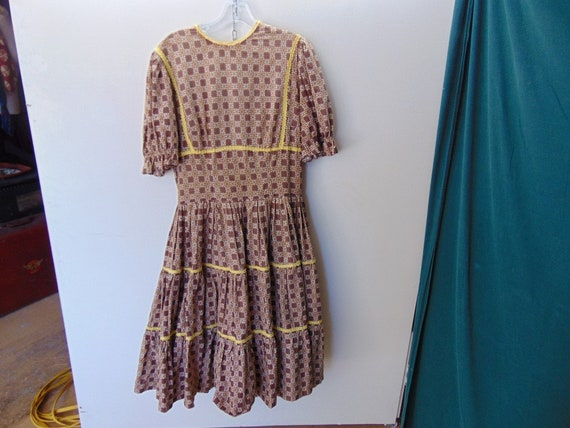 1950's Vintage Womens Cotton Swing cotton  Dress