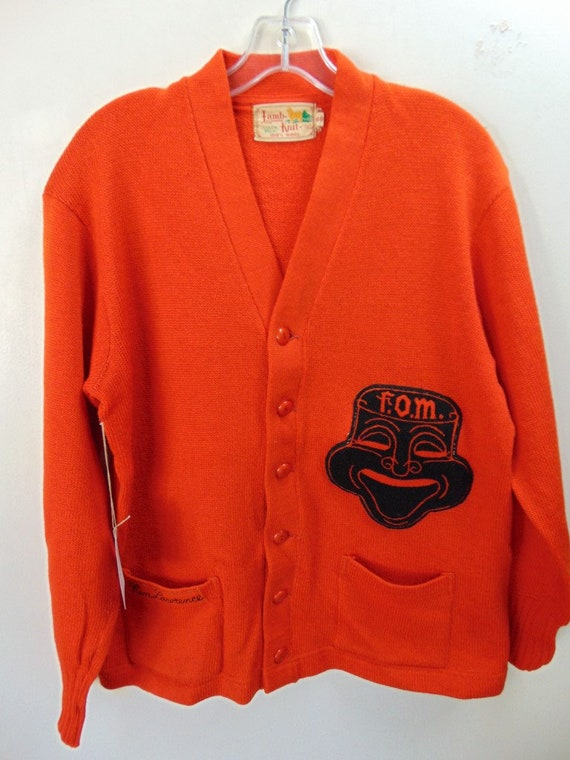 sXw12 1940-50's Drama School Wool Cardigan (46) Le