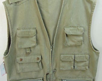 The multi purpose Hunting/Camping/Backpacking Vintage Vest Chest size 48 inches
