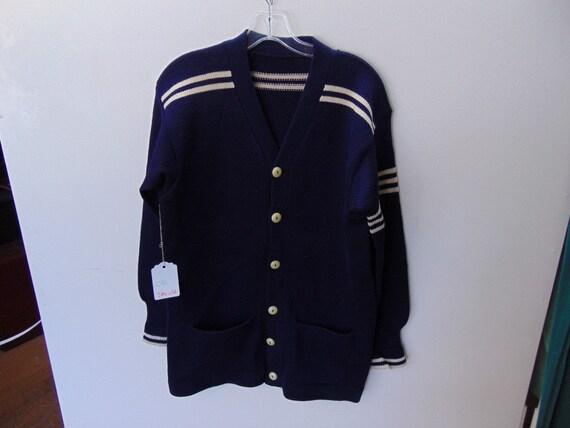 sMLw52 1940-50's Vintage Heavy Wool School Sweater