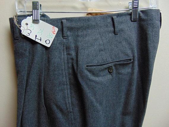 pb20 1940-50's Gray Wool Drop loop Hollywood waist